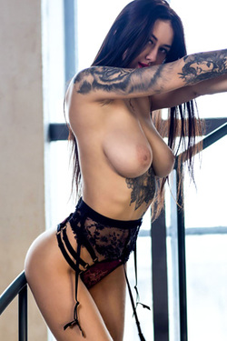 Tanya Bahtina in 'Tattooed Tits' via Stasy Q
